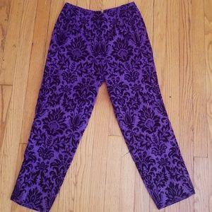 VTG Velvet Amazing Royal Purple Handmade Capris